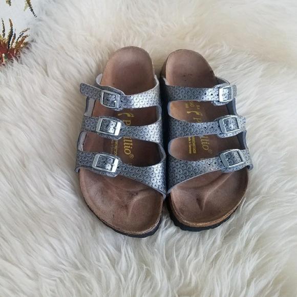 b1e012122 Birkenstock Shoes - BIRKENSTOCK PAPILLIO SILVER STRAP SANDALS